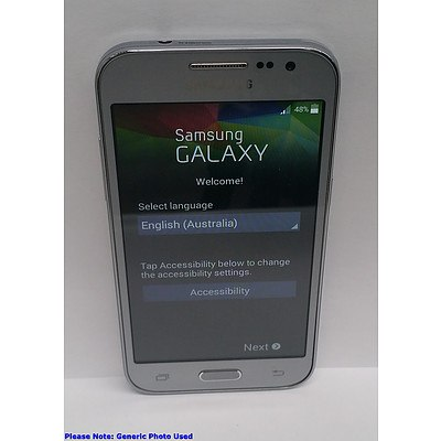 Samsung Galaxy Core Prime (SM-G360G) LTE Silver Touchscreen Mobile Phone