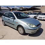 12/2003 Ford Focus CL LR 5d Hatchback Blue 1.8L
