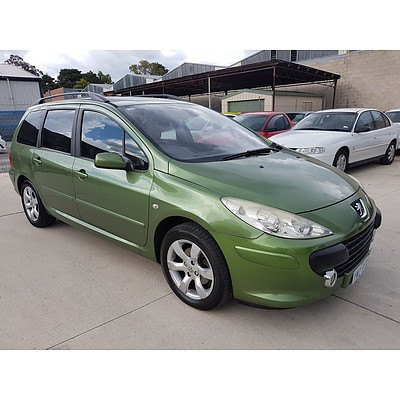 8/2006 Peugeot 307 XSE 2.0 Touring MY06 4d Wagon Green 2.0L