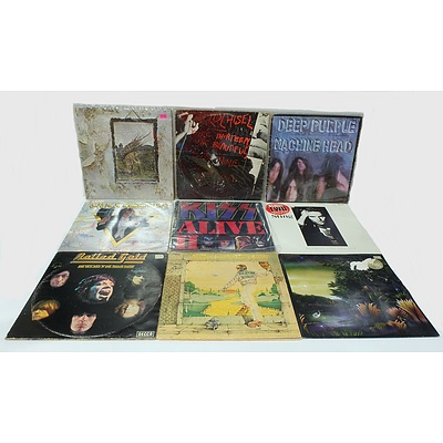 Group of Vinyl Records