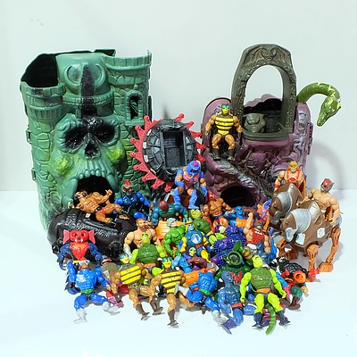 Large Collection of Retro Masters of the Universe Toys
