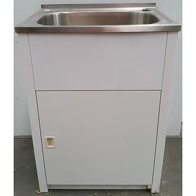 Stainless Steel Laundry Sink With Cabinet