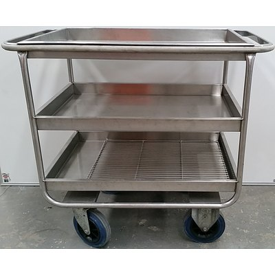 Mobile Commercial Stainless Steel Trolley