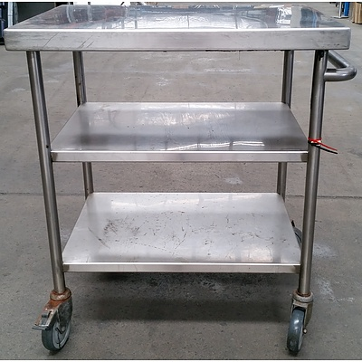 Mobile Commercial Stainless Steel Bench