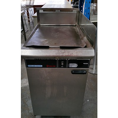 Blue Seal Tube Ray Stainless Steel Natural Gas Deep Fryer