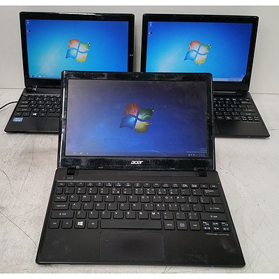 Acer TravelMate B113 Series Core i5 (3337U) 1.80GHz 11.1-Inch Laptop - Lot of Three