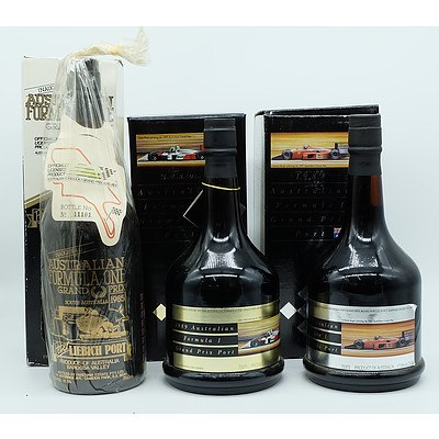 11 Bottles of Australian Grand Prix Port (Editions 1985 to 1995)
