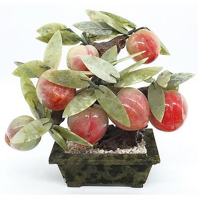 Decorative Hardstone Fruit Tree