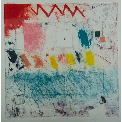 SCHMID, Monica (b.1939) '12 Squares,' 1988. Coloured Etching 31/45