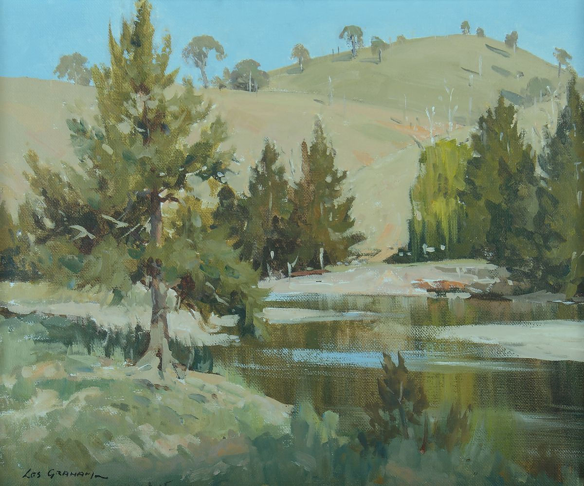 'GRAHAM, Les (b.1942), A Bend in the Turon Oil on Canvas on Board'
