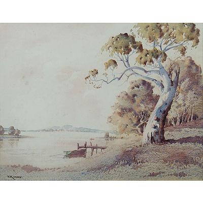 WATT, Victor Robert (1886-1970) 'Forster, Tuncurry in Distance' Watercolour
