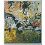 BOYD, Arthur Merric Bloomfield (1920-1999) 'Reflecting Rocks,' 1997 Lithograph 44/70