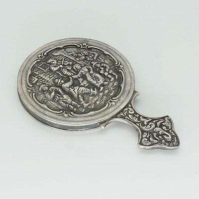 Dutch Silver Miniature Vanity Mirror