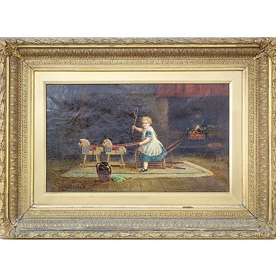19th Century English School Oil on Canvas