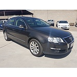 9/2007 Volkswagen Passat 2.0 TDI 3C MY08 UPGRADE 4d Sedan Black 2.0L