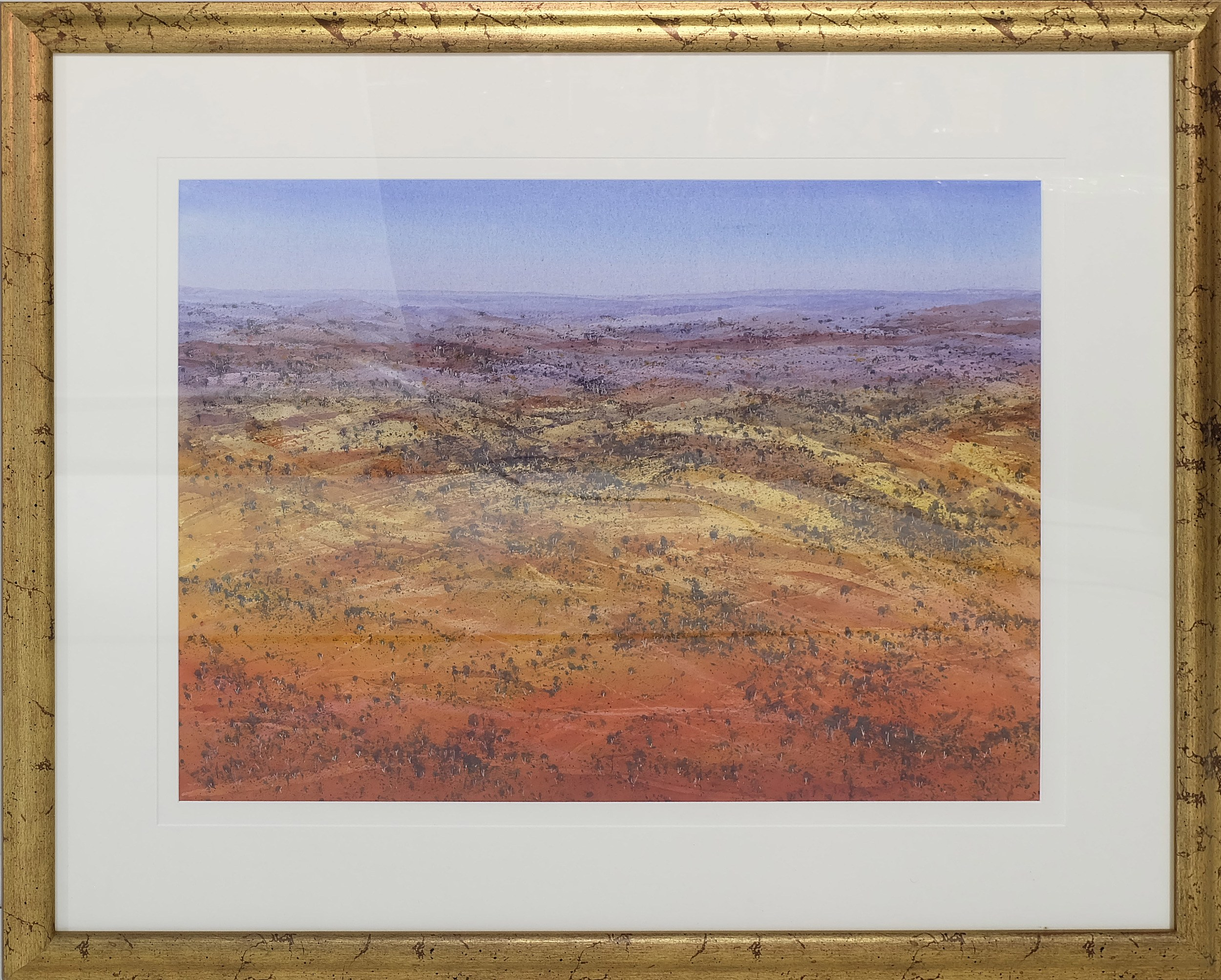 'David Hatton (1938-2017) Solitude Flinders Ranges Watercolour'