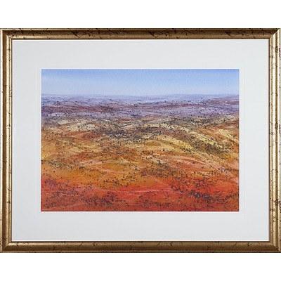 David Hatton (1938-2017) Solitude Flinders Ranges Watercolour