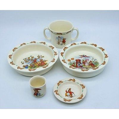 Royal Doulton Bunnykins Bone China Dishes, Mugs and Cup