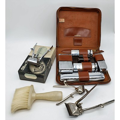 Albert Martin Hair Clippers, Two Tix Gentlemans Traveling Grooming Set and More