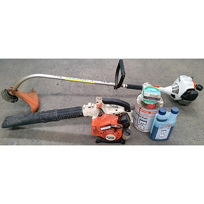 Stihl FS38 Two Stroke Line Trimmer and Stihl BG85 Two Stroke Leaf Blower