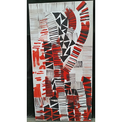 Pearl Abstract Canvas Painting by Mia Shin