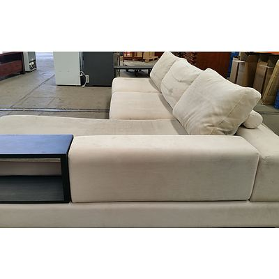 King Furniture Corded Fabric LH Chaise Lounge