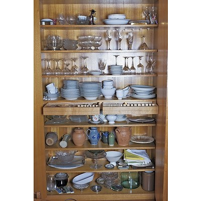 Entire Contents of the Two Large Wall Cupboards in the Dining Room