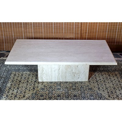 Contemporary Travertine Coffee Table