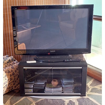 Panasonic PH-P42x200 42 Inch TV with DVD Player, Various DVDs and Cabinet