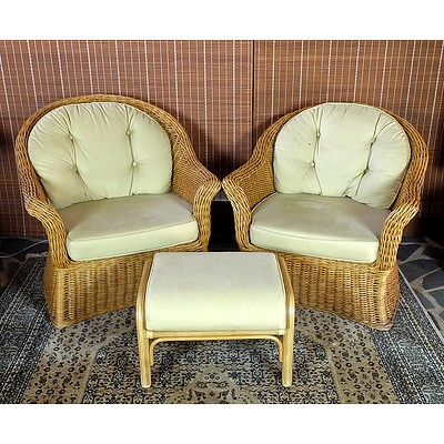 Two Wicker Armchairs