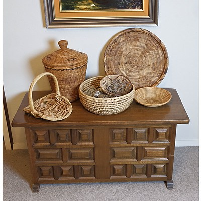A Group of Various Basketry
