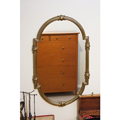 Vintage Metal Framed Mirror