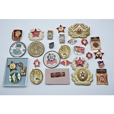 East German Military Badges and Insignia Collection