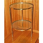 A Brass and Glass Two Tier Whatnot