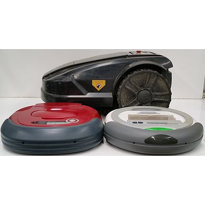 Robot Mower and Robot Vacuum Cleaners - Lot of Three