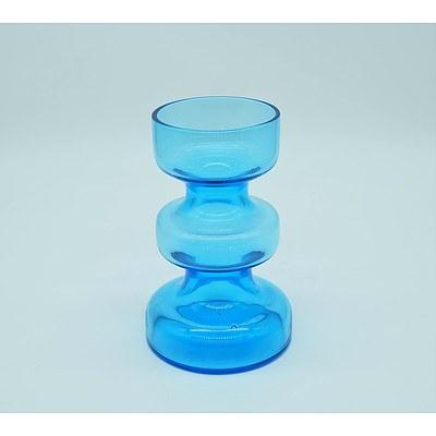 Blue Scandinavian Art Glass Vase