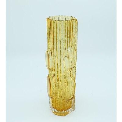 Amber Scandinavian Style Art Glass Vase