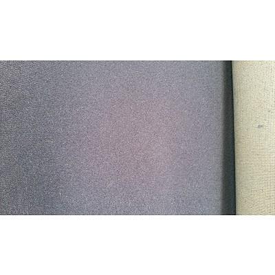 Roll End of Blue Wool Carpet