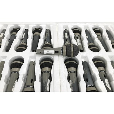 Electro-Voice PL91A Dynamic Cardioid Vocal Microphones - Lot of 17