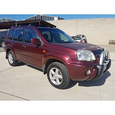 9/2003 Nissan X-trail Ti Luxury (4x4) T30 4d Wagon Maroon 2.5L