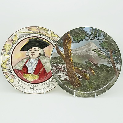 Two Royal Doulton Plates, The Mayor D6283 and Mt Egmont D6436
