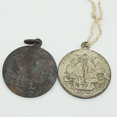 Two Australian 1919 Peace Medals