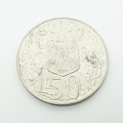 1966 Australian Round 50 Cent Coin