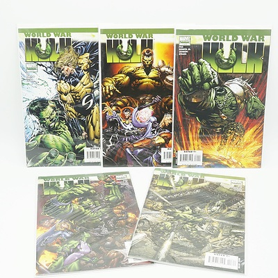 Complete Set of World War Hulk, Five Comics