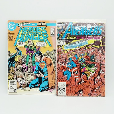 Four Vintage Comics, Including Superman, Iron Man, Avengers and Spiderman