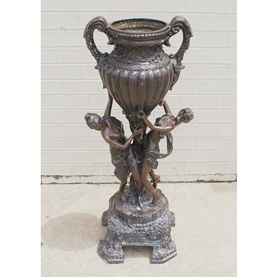 Contemporary Art Bronze Urn Statue