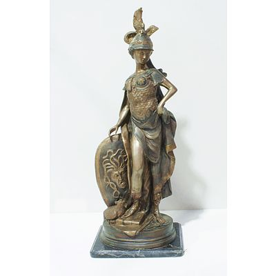 Classical Style Bronze Figure of Minerva