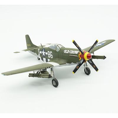 Diecast Model of Clarence Emil 'Bud' Anderson P-51D Mustang 'Old Crow'