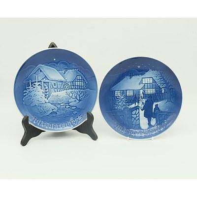 Seven Bing and Grondahl Porcelain Plates