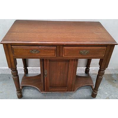 Vintage Oak Wash Stand Base